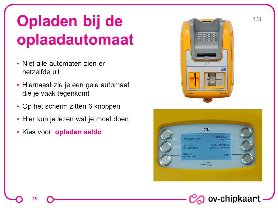 Opladen bij de oplaadautomaat Niet alle automaten zien er hetzelfde uit Hiernaast zie je een gele automaat die je vaak tegenkomt Op het scherm zitten