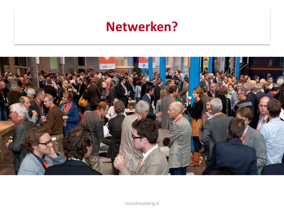 Voorbeelden van de slapende reus Zij maakten een echte switch dankzij netwerken: Jan (Bkgas – NUON) Jolanda (secrtaresse - tuinontwerpster) Udo (lg automotive - begeleider verstandelijk gehandicapten) Bianca (projectenbureau – stagebegeleidster ROC) Marnix (milieuspecialist – projectleider jeugdzorg) Marc (medewerker - leidinggevende) www.kreuzberg.nl