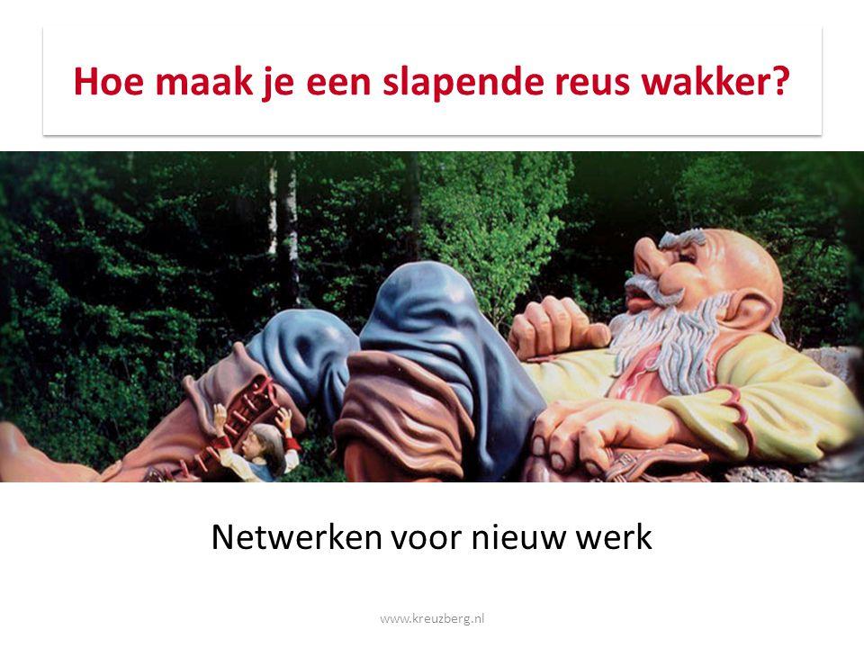 Waarom netwerken Om sneller te kunnen reageren bij een verse vacature Om je kansen te vergroten bij de organisaties waar je graag zou willen werken www.kreuzberg.nl