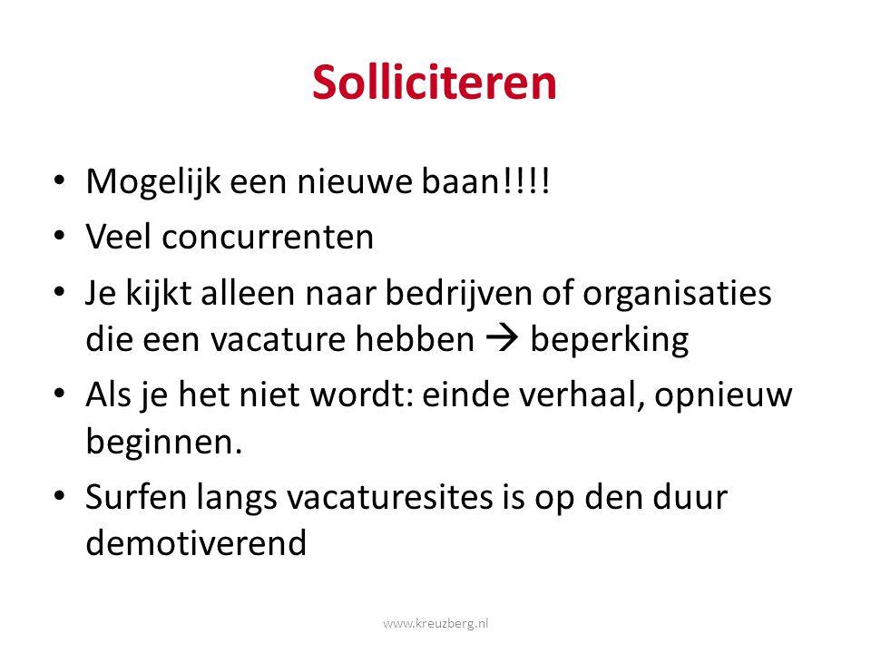 Wat is een vacature ? www.kreuzberg.nl