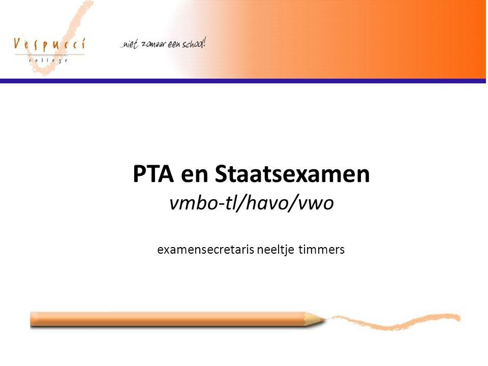 PTA en Staatsexamen vmbo-tl/havo/vwo examensecretaris neeltje timmers