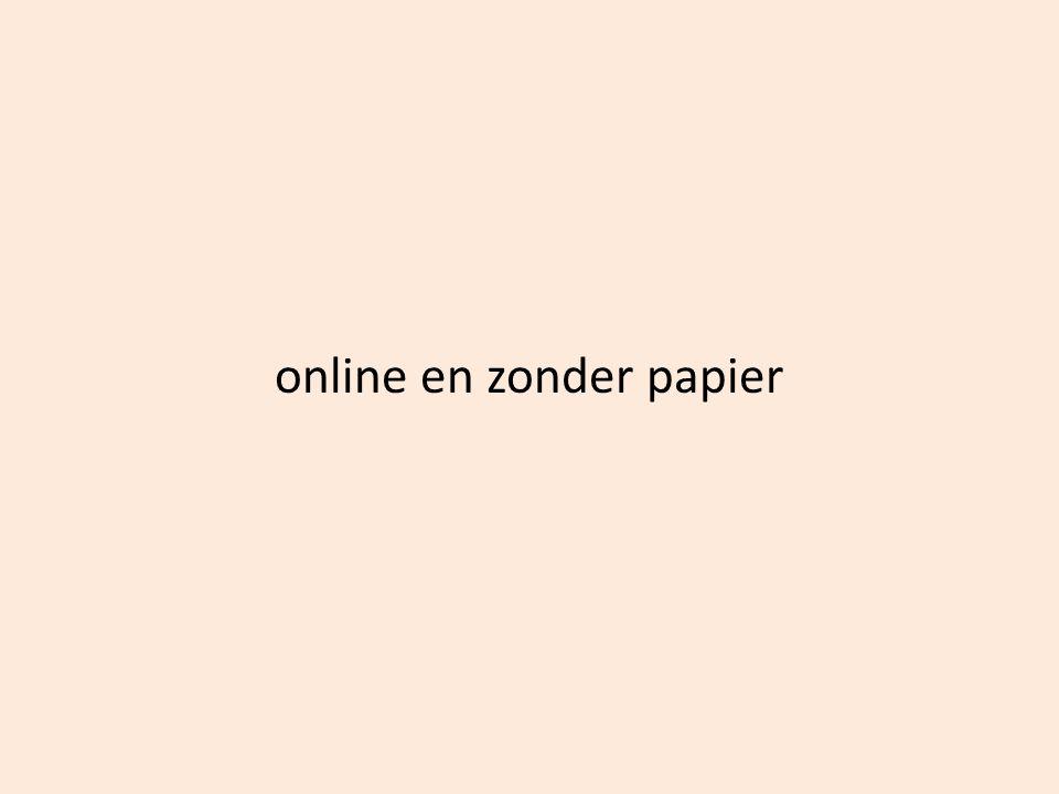 online en zonder papier