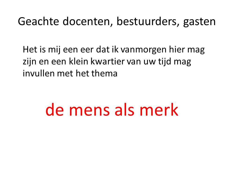 De mens als merk in de marketing. Frans Kwakernaat