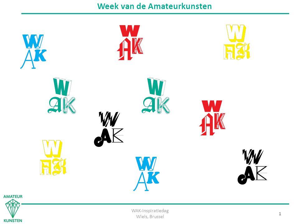 WAK-inspiratiedag Wiels, Brussel 2 Week van de Amateurkunsten Wat is de WAK.
