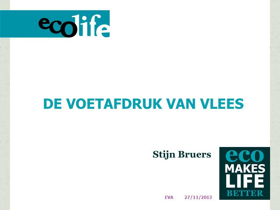 DE VOETAFDRUK VAN VLEES Stijn Bruers 27/11/2013 EVA
