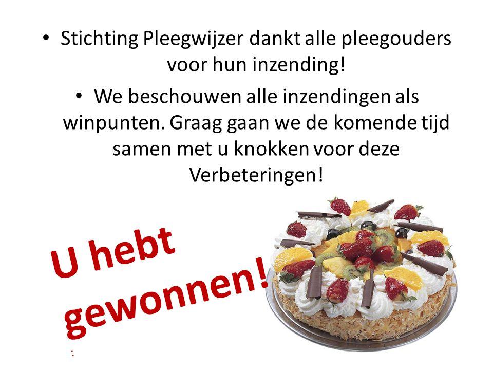 Stichting Pleegwijzer dankt alle pleegouders voor hun inzending! We beschouwen alle inzendingen als winpunten. Graag gaan we de komende tijd samen met
