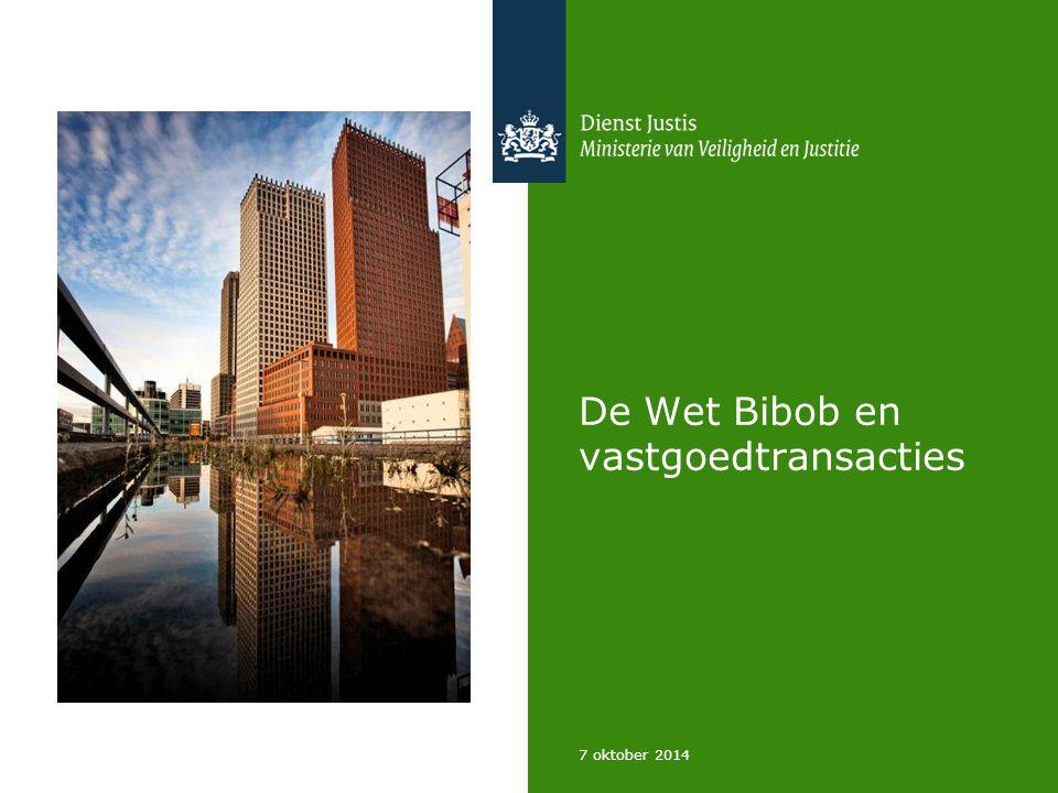 De Wet Bibob en vastgoedtransacties 7 oktober 2014