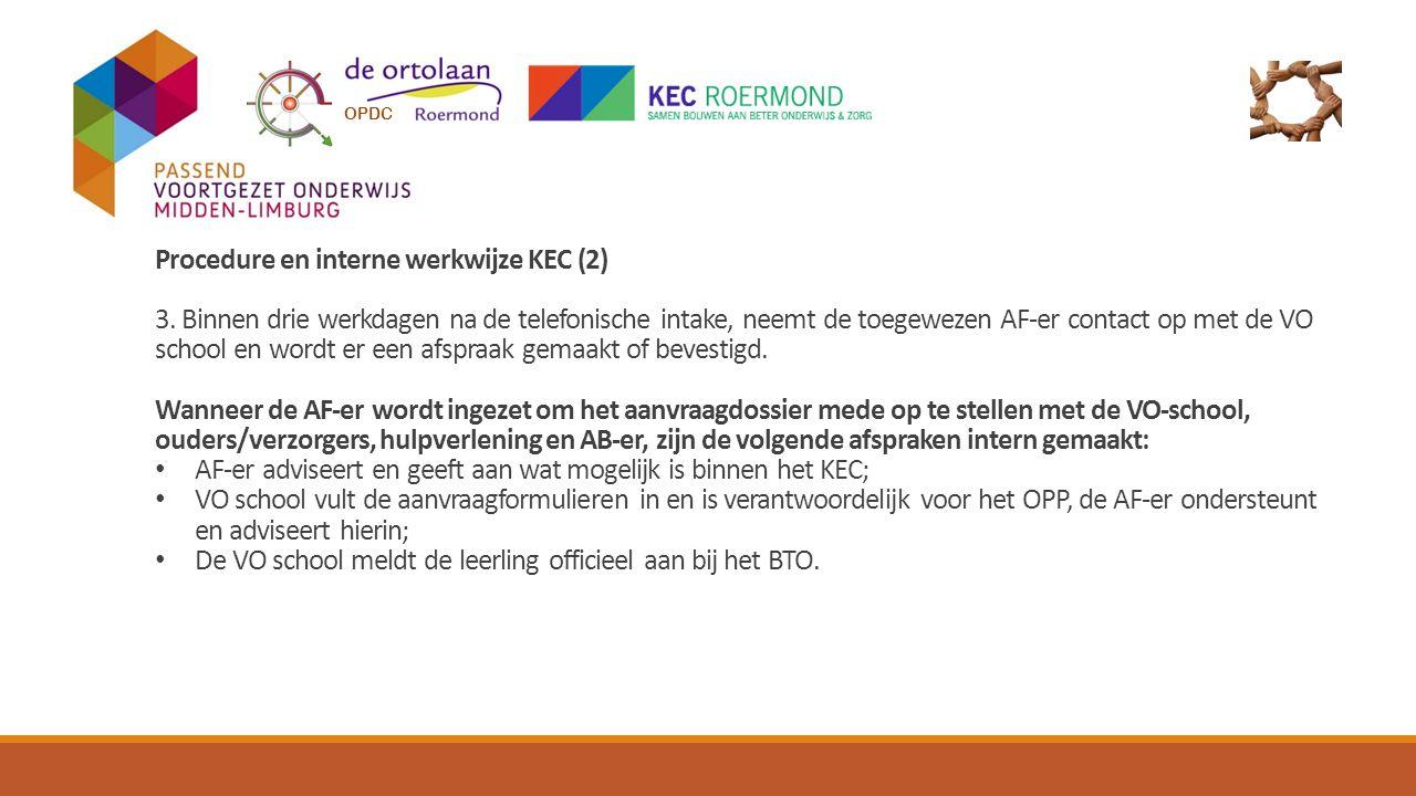 Procedure en interne werkwijze KEC (2) 3.