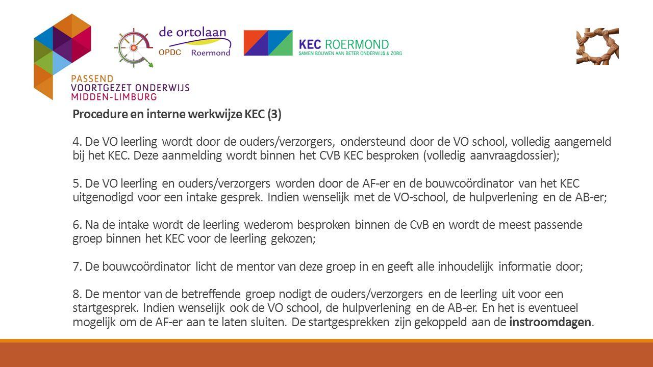 Procedure en interne werkwijze KEC (3) 4.