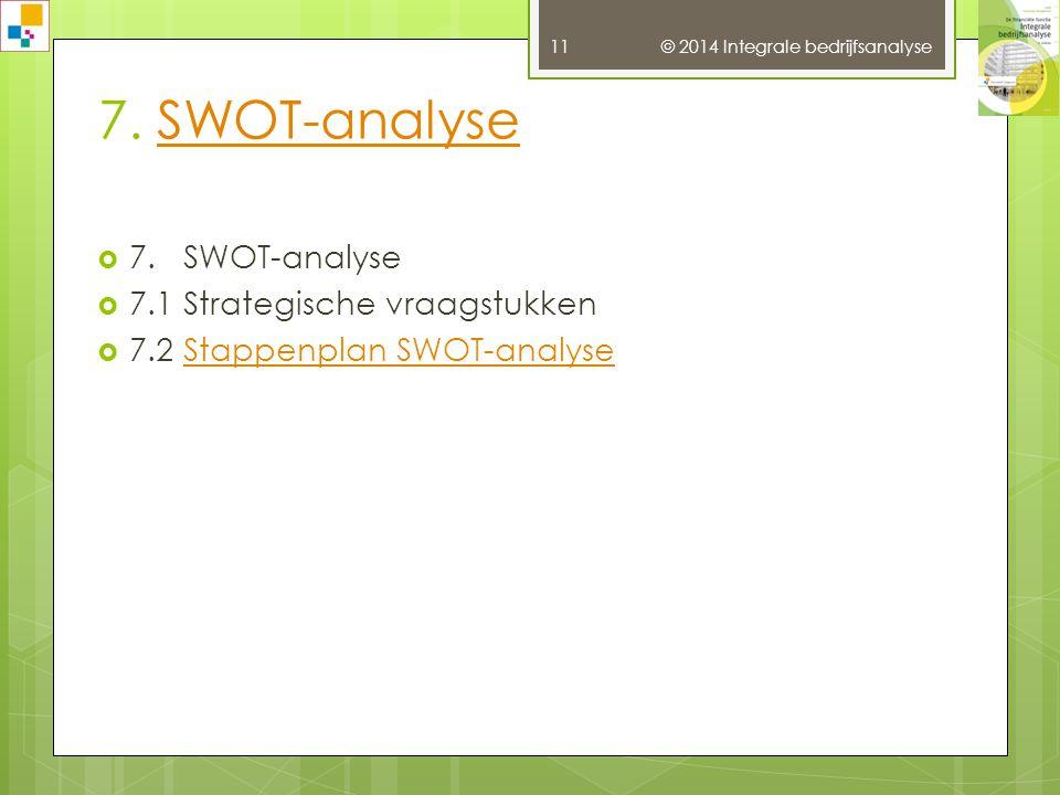 © 2014 Integrale bedrijfsanalyse 10 6.