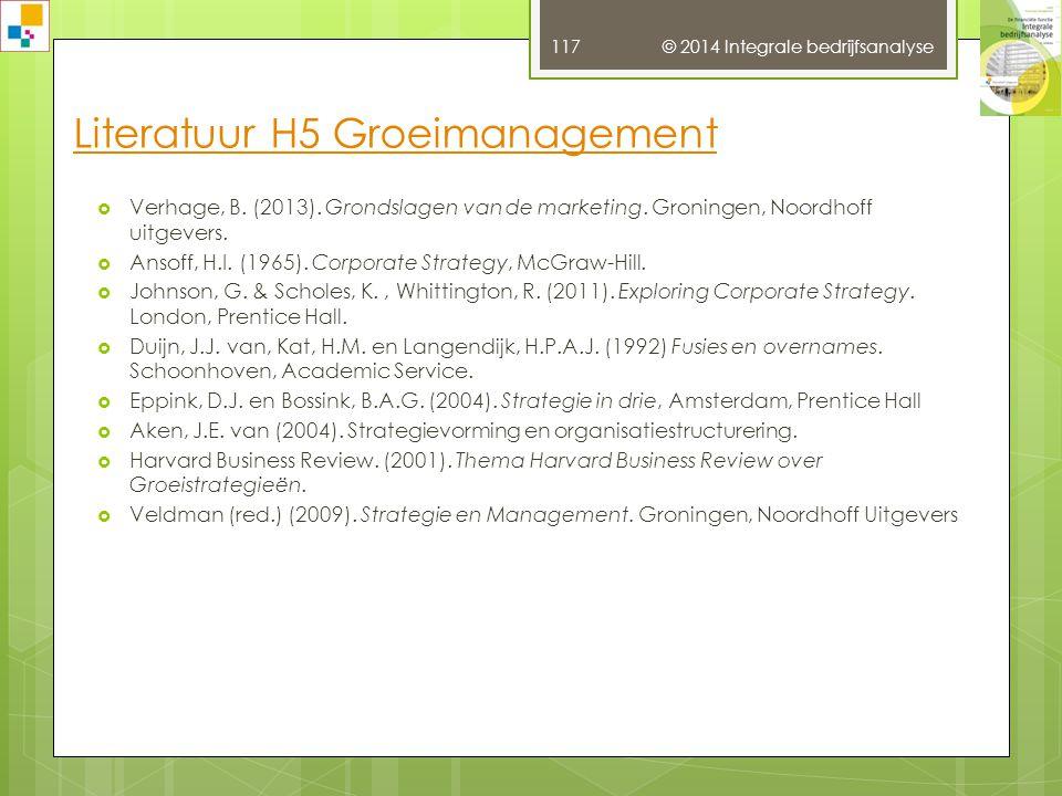 © 2014 Integrale bedrijfsanalyse 116  Ammeraal, T.