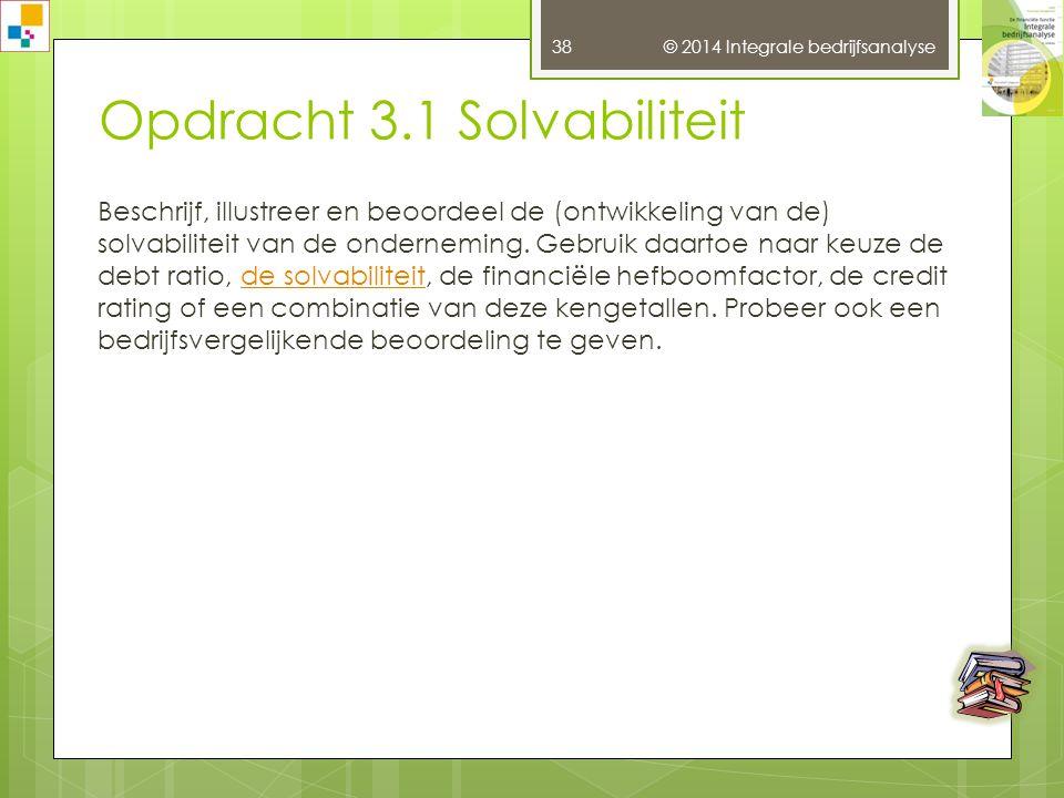 37 Opdracht 2.1 Branche-analyseBranche-analyse Het zou te ver voeren voor alle branches waarin de onderneming activiteiten heeft een aparte branche-analyse te maken.