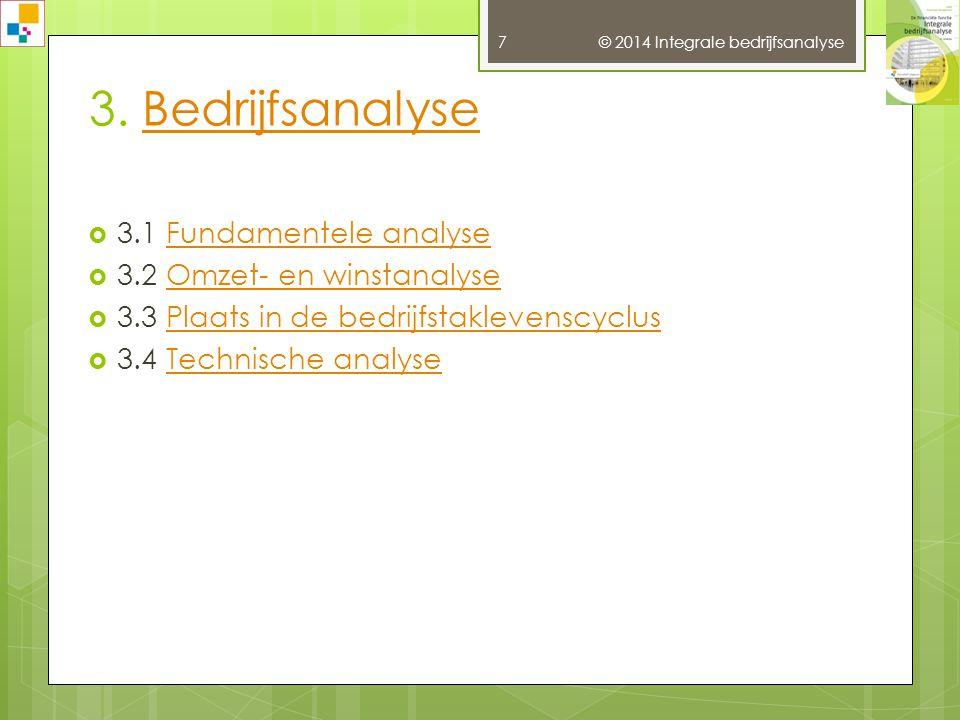 © 2014 Integrale bedrijfsanalyse 7 3.