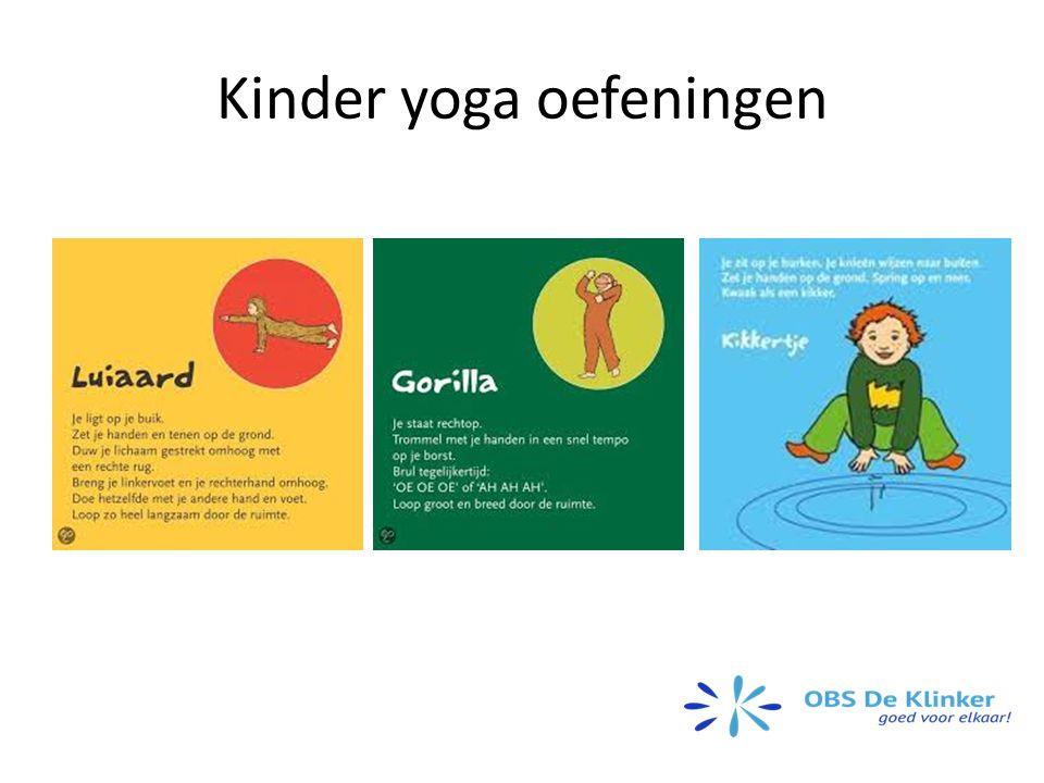 Kinder yoga oefeningen