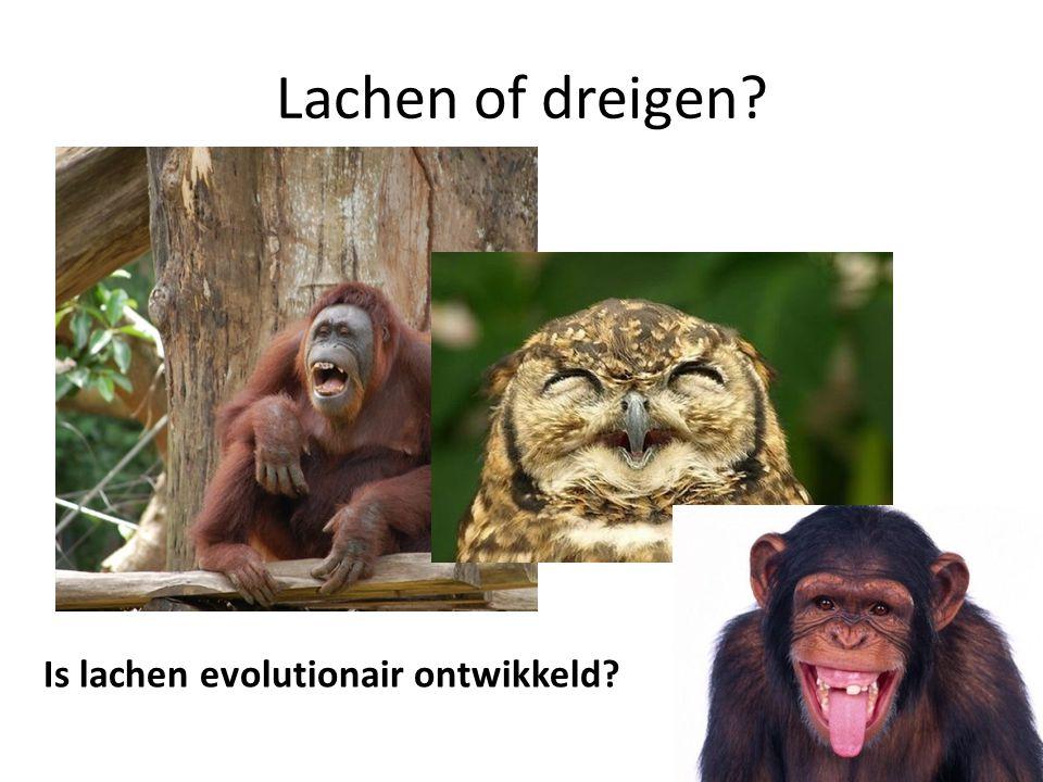 Lachen of dreigen? Is lachen evolutionair ontwikkeld?