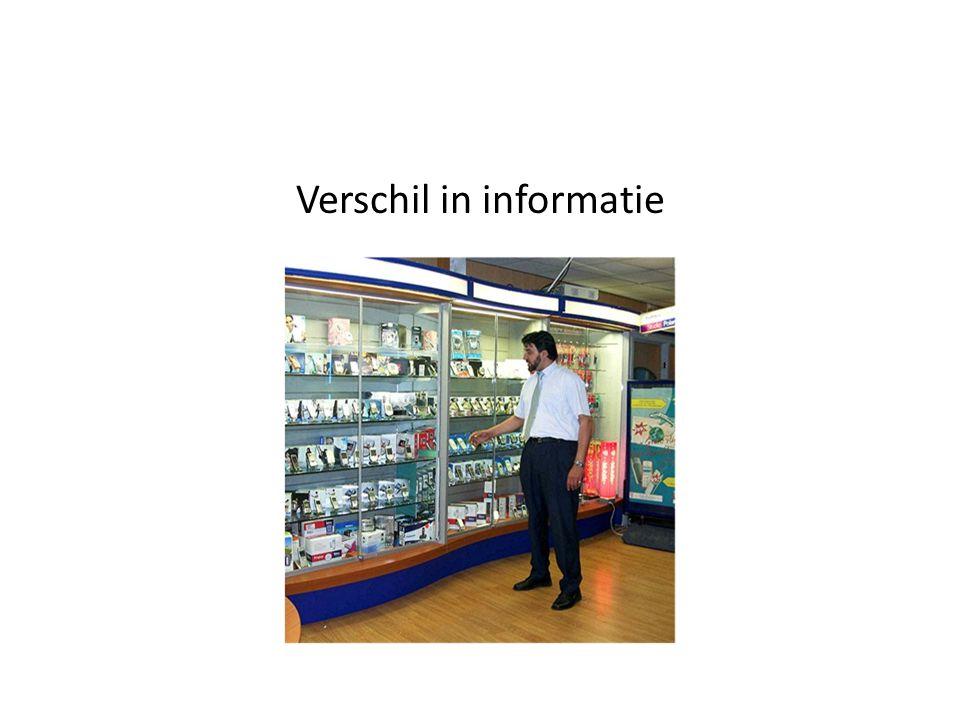 Verschil in informatie