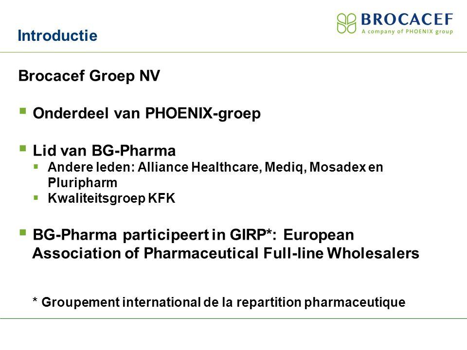 Producten Brocacef Groothandel  Geneesmiddelen  Medische hulpmiddelen  Farmaceutische grondstoffen  Verpakkingsmaterialen  Voedingsmiddelen  Voedingssupplementen  Introductie