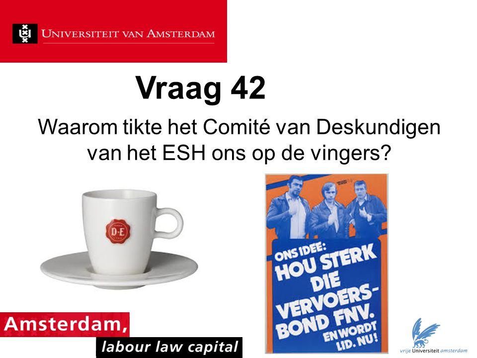 Vraag 42 Waarom tikte het Comité van Deskundigen van het ESH ons op de vingers?