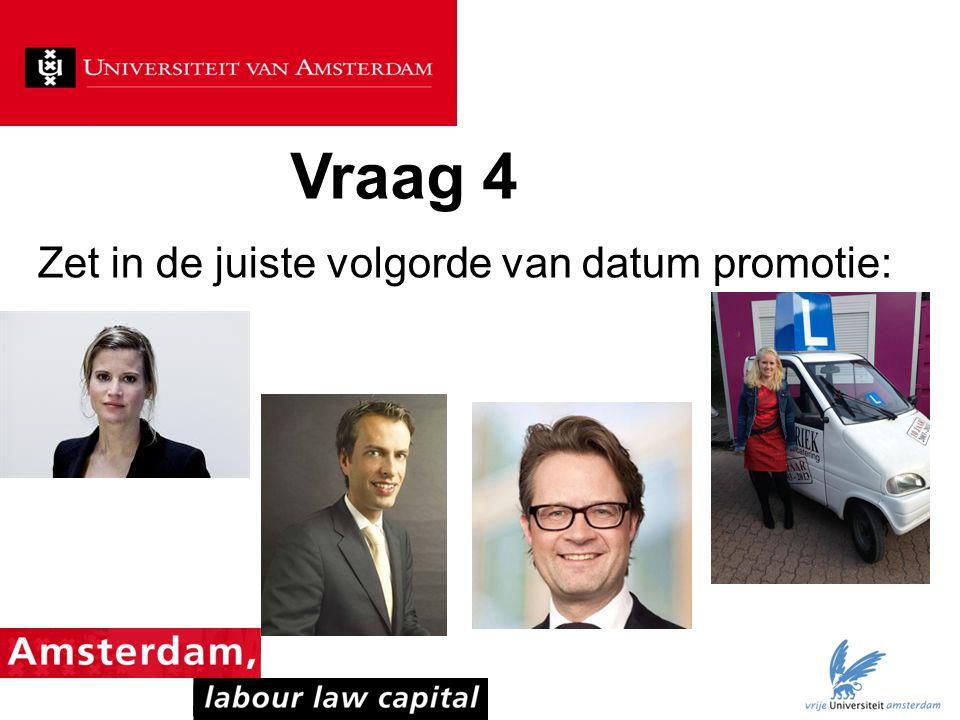 Vraag 45 Welke promotor in het arbeidsrecht heeft de meeste promoties op zijn naam staan?