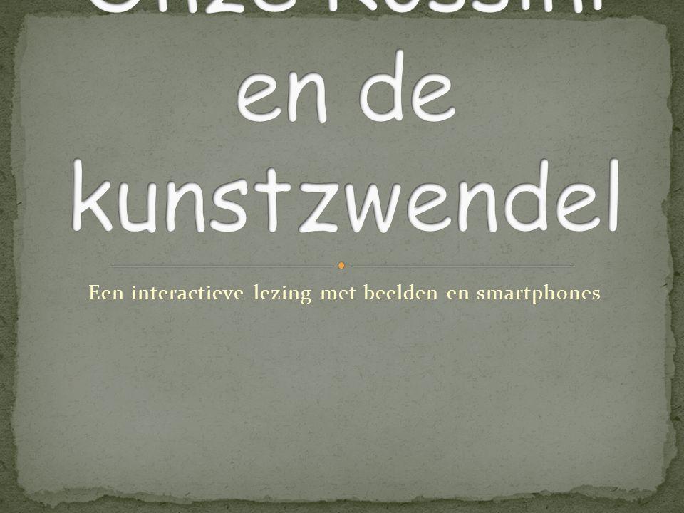 Een interactieve lezing met beelden en smartphones