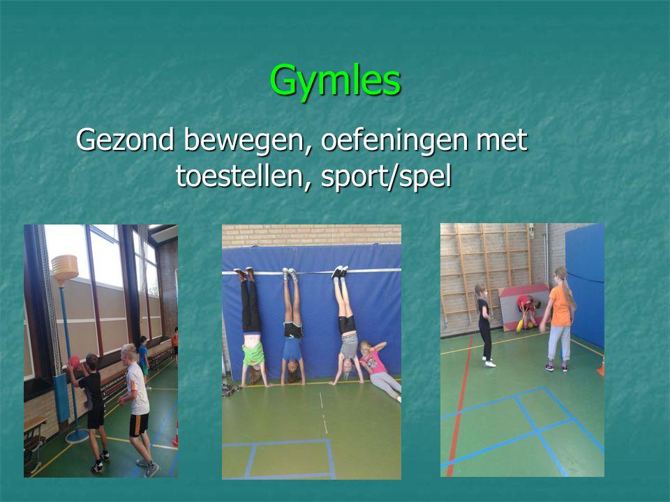 Gymles Gezond bewegen, oefeningen met toestellen, sport/spel