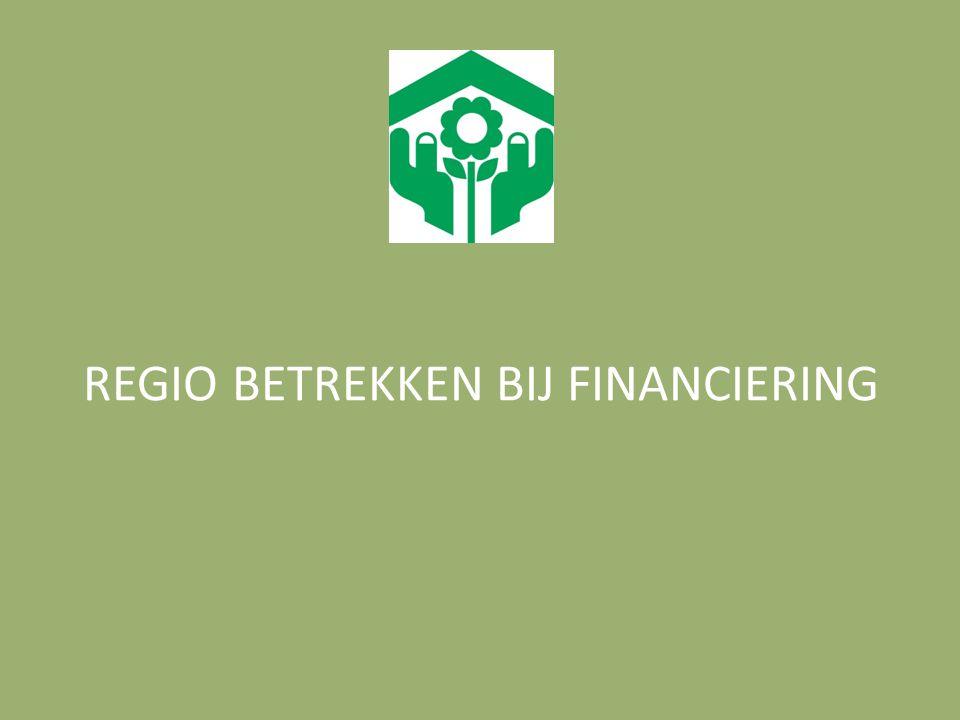 REGIO BETREKKEN BIJ FINANCIERING