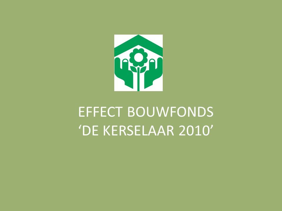 EFFECT BOUWFONDS 'DE KERSELAAR 2010'