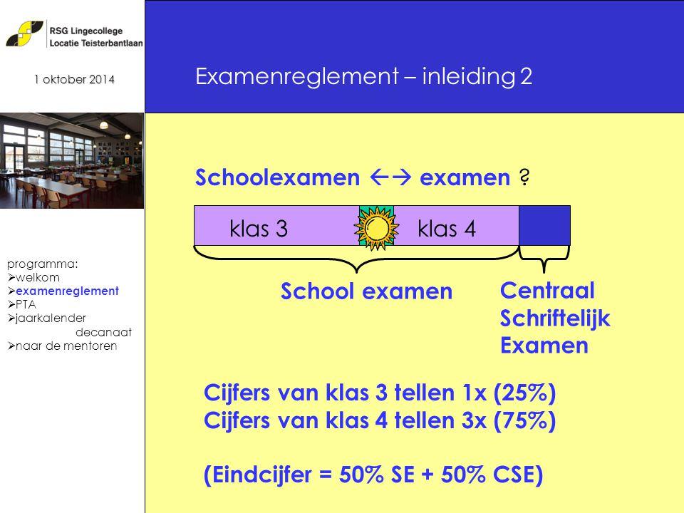 5 Schoolexamen  examen .