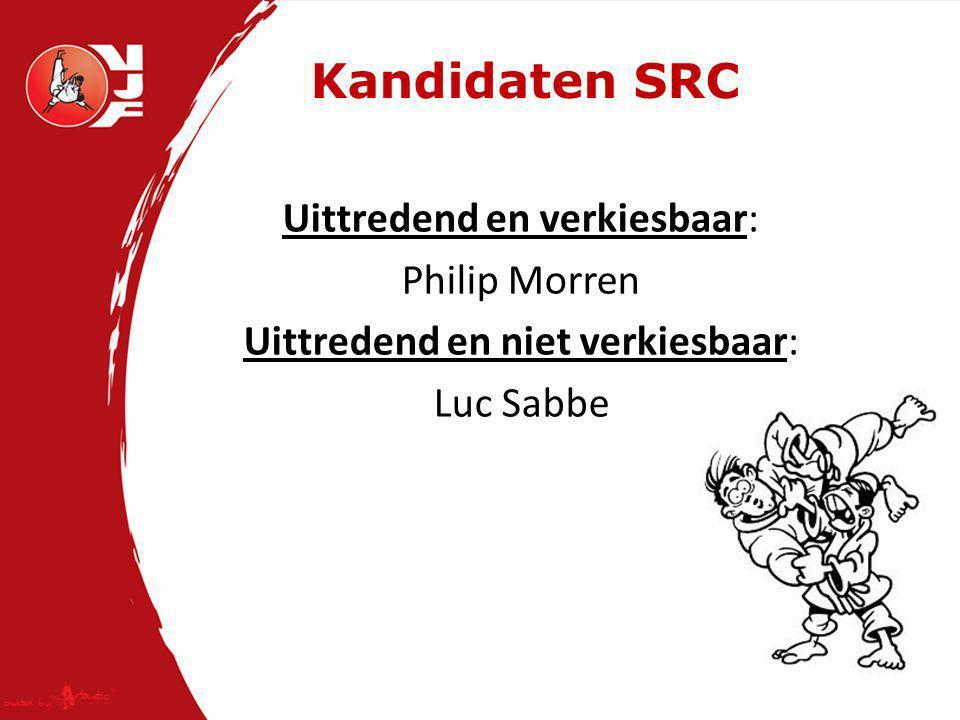 Kandidaten SRC Uittredend en verkiesbaar: Philip Morren Uittredend en niet verkiesbaar: Luc Sabbe