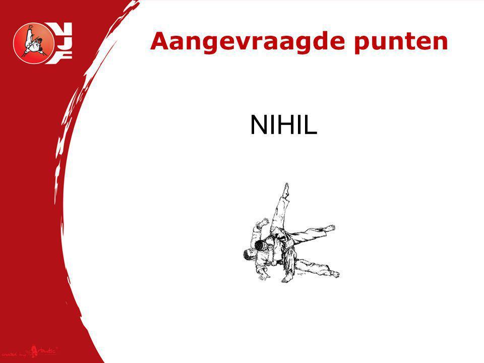 Aangevraagde punten NIHIL