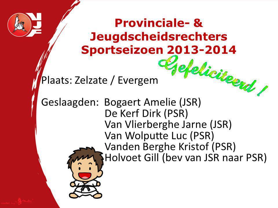 Examen REGIONALE SCHEIDSRECHTER Sportseizoen 2013-2014 Plaats: Herentals Geslaagden: Maarten D Hooghe Timothy Maes Bart Van De Keer Terug aktief als RSR:Bart Aertssen
