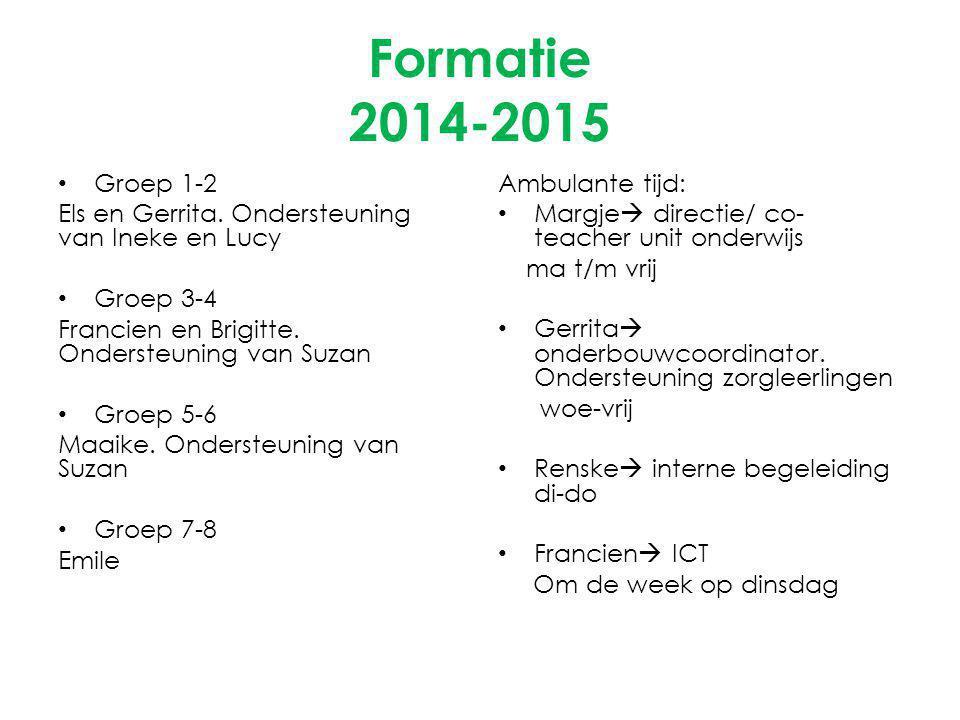 Formatie 2014-2015 Groep 1-2 Els en Gerrita.