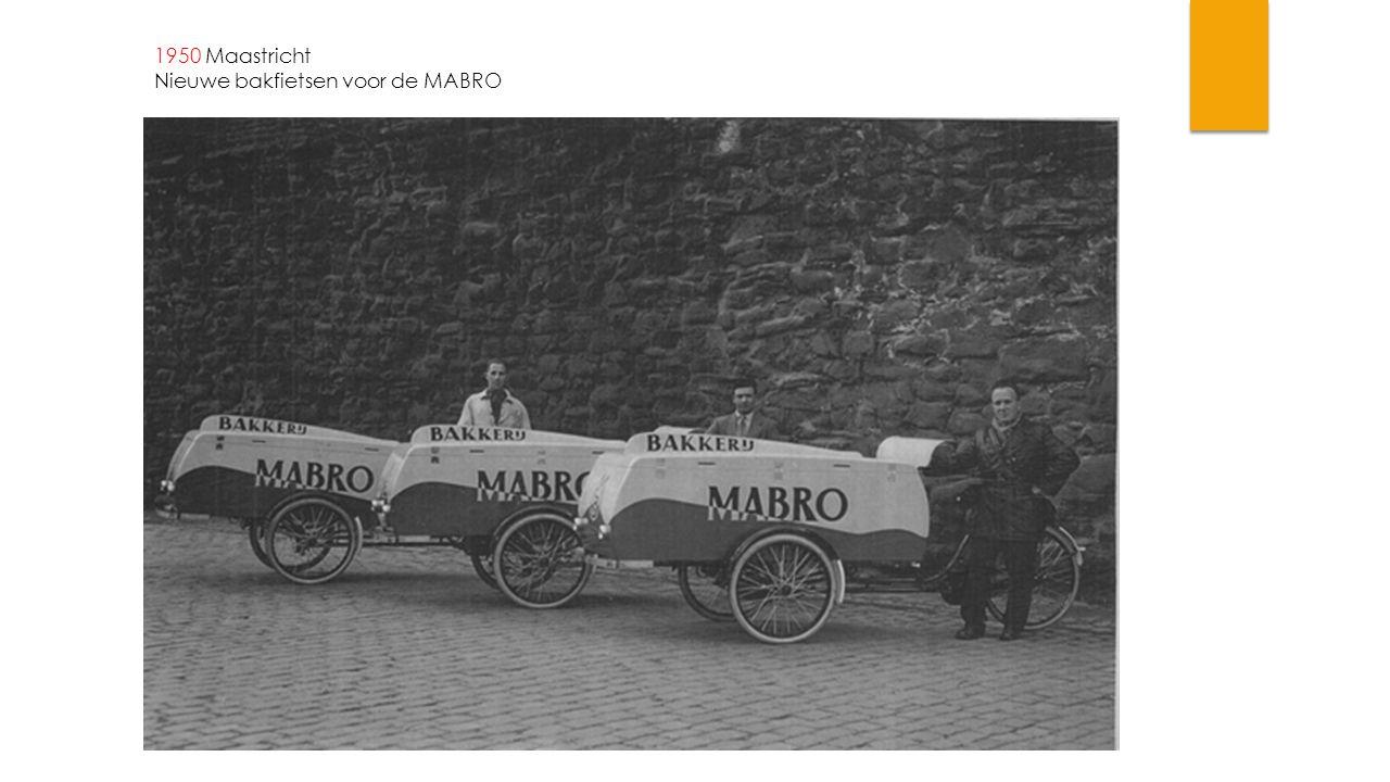 1950 Maastricht Nieuwe bakfietsen voor de MABRO