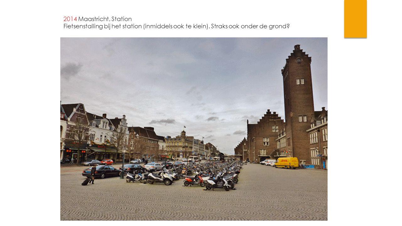 2014 Maastricht, Station Fietsenstalling bij het station (inmiddels ook te klein). Straks ook onder de grond?