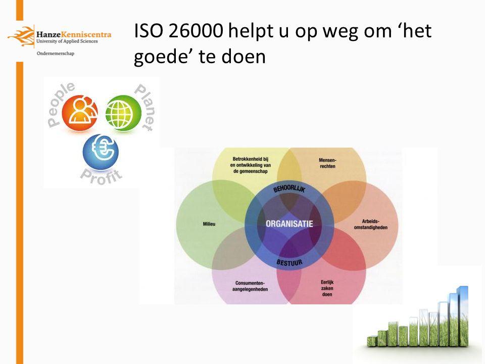 ISO 26000 helpt u op weg om 'het goede' te doen