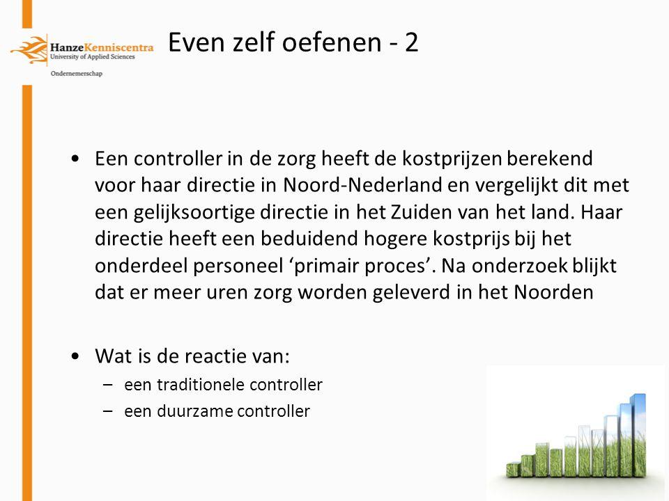 Een controller in de zorg heeft de kostprijzen berekend voor haar directie in Noord-Nederland en vergelijkt dit met een gelijksoortige directie in het