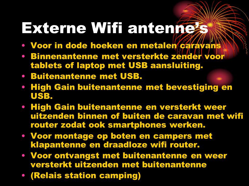 Externe Wifi antenne's Voor in dode hoeken en metalen caravans Binnenantenne met versterkte zender voor tablets of laptop met USB aansluiting. Buitena