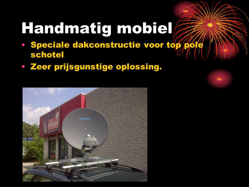 Handmatig mobiel Speciale dakconstructie voor top pole schotel Zeer prijsgunstige oplossing.