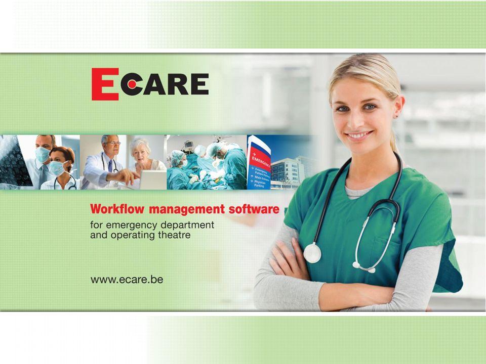 E.care ED AssessmentTool Concept E.care ED anno 1997: –Niet sequentiële workflows –Afstappen van document georiënteerd werken –Fragmentarisch dokumenteren –En later automatisch samenvatten in documenten, berichten, rapporten,….