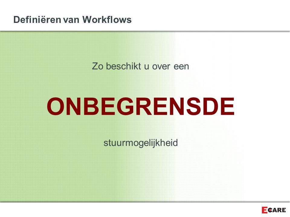 Definiëren van Workflows Zo beschikt u over een ONBEGRENSDE stuurmogelijkheid