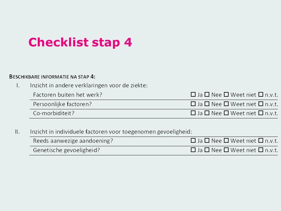Checklist stap 4