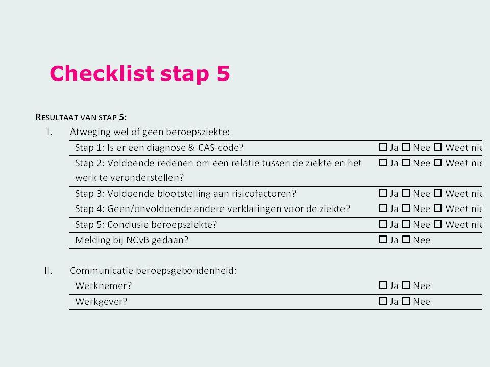 Checklist stap 5