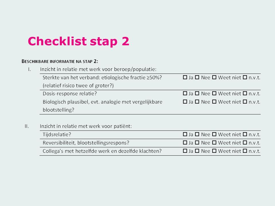 Checklist stap 2
