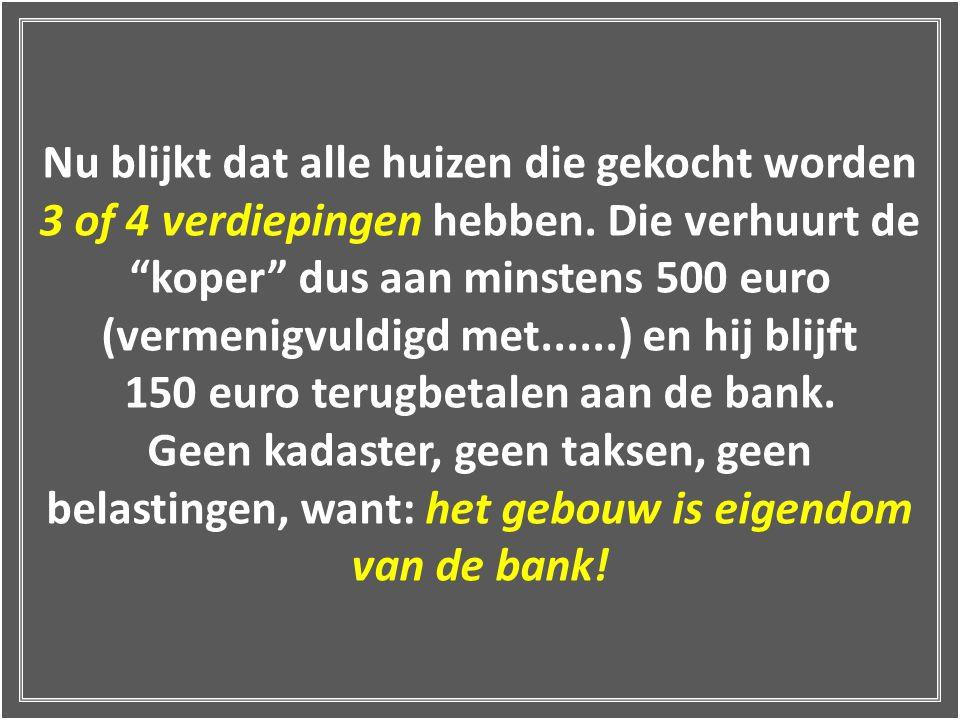 """Mààààr: nadat hij het huis door de bank heeft laten kopen, mag de """"koper"""" de 1,2,3… appartementen verhuren aan 500 euro per maand, zonder aan de Bank"""