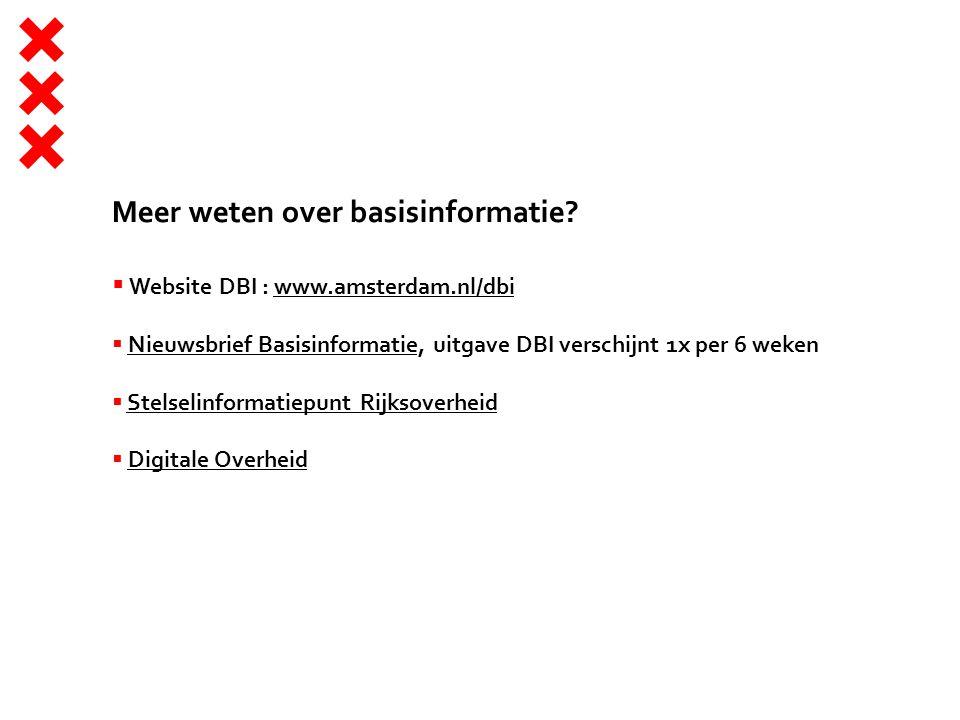 Meer weten over basisinformatie.