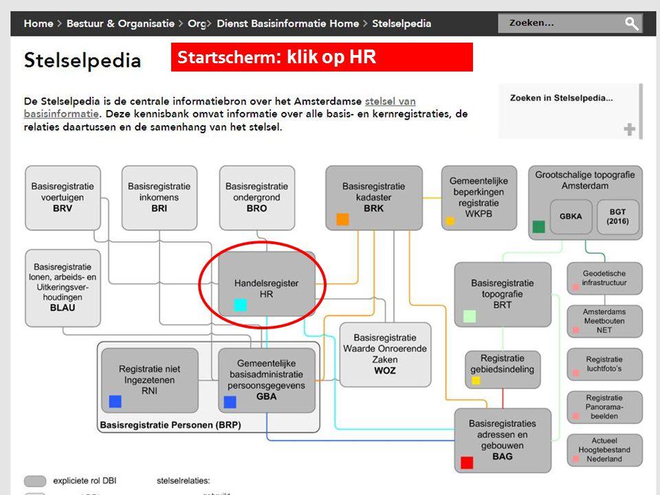 Startscherm : klik op HR