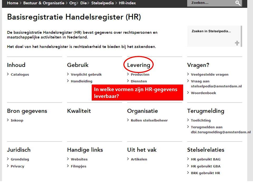 Kies onderwerp In welke vormen zijn HR-gegevens leverbaar?