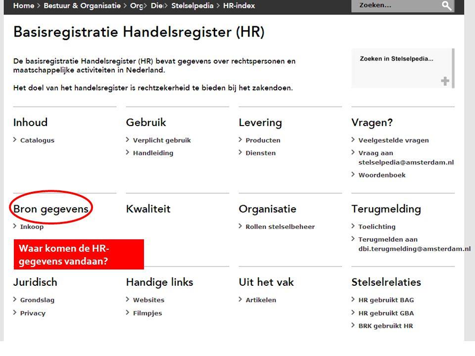 Kies onderwerp Waar komen de HR- gegevens vandaan?