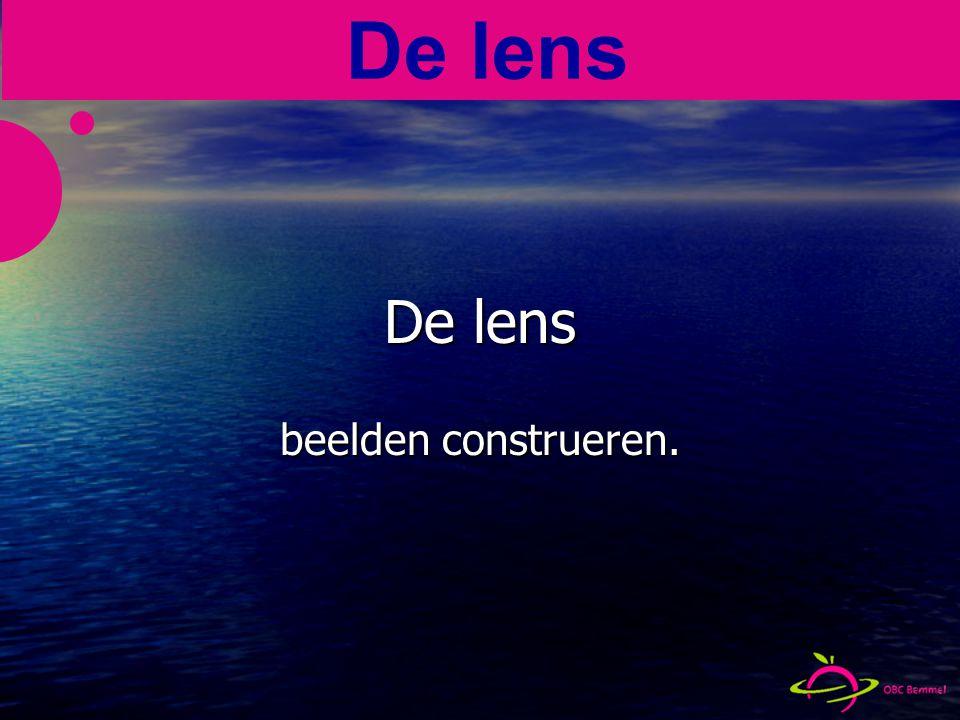 De lens beelden construeren. De lens