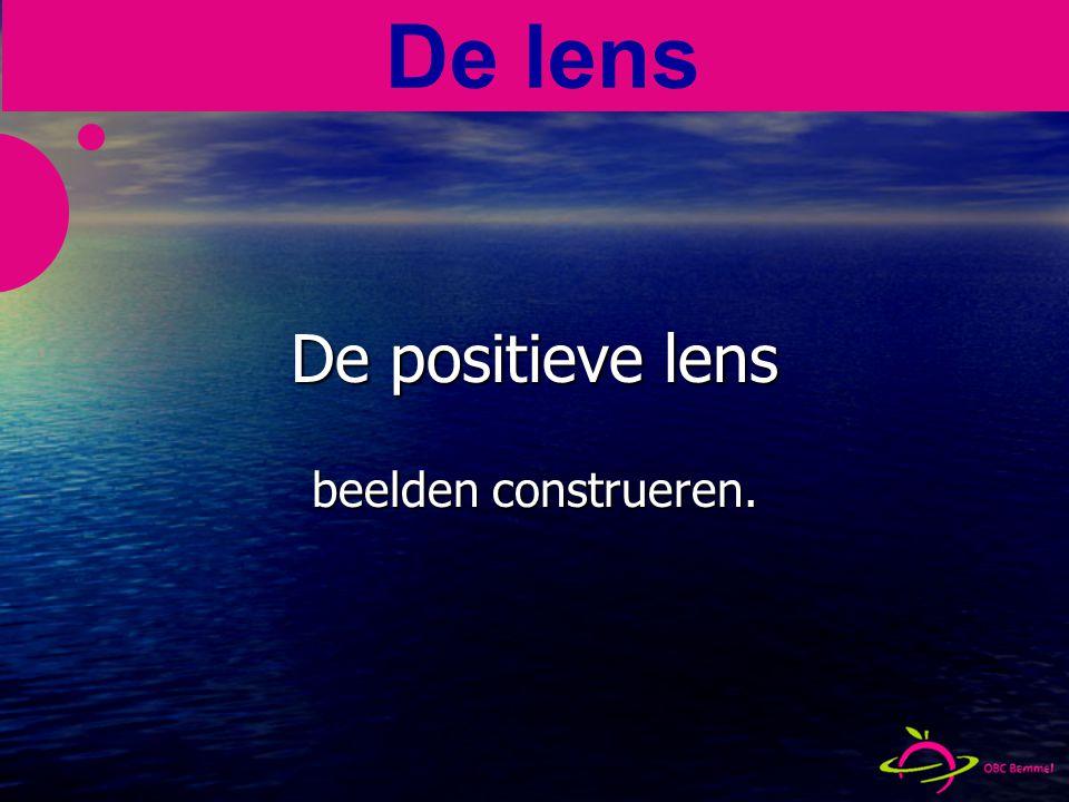 De positieve lens beelden construeren. De lens